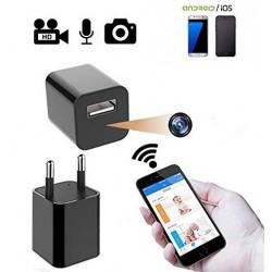 Cargador USB Camara Espia HD Wifi